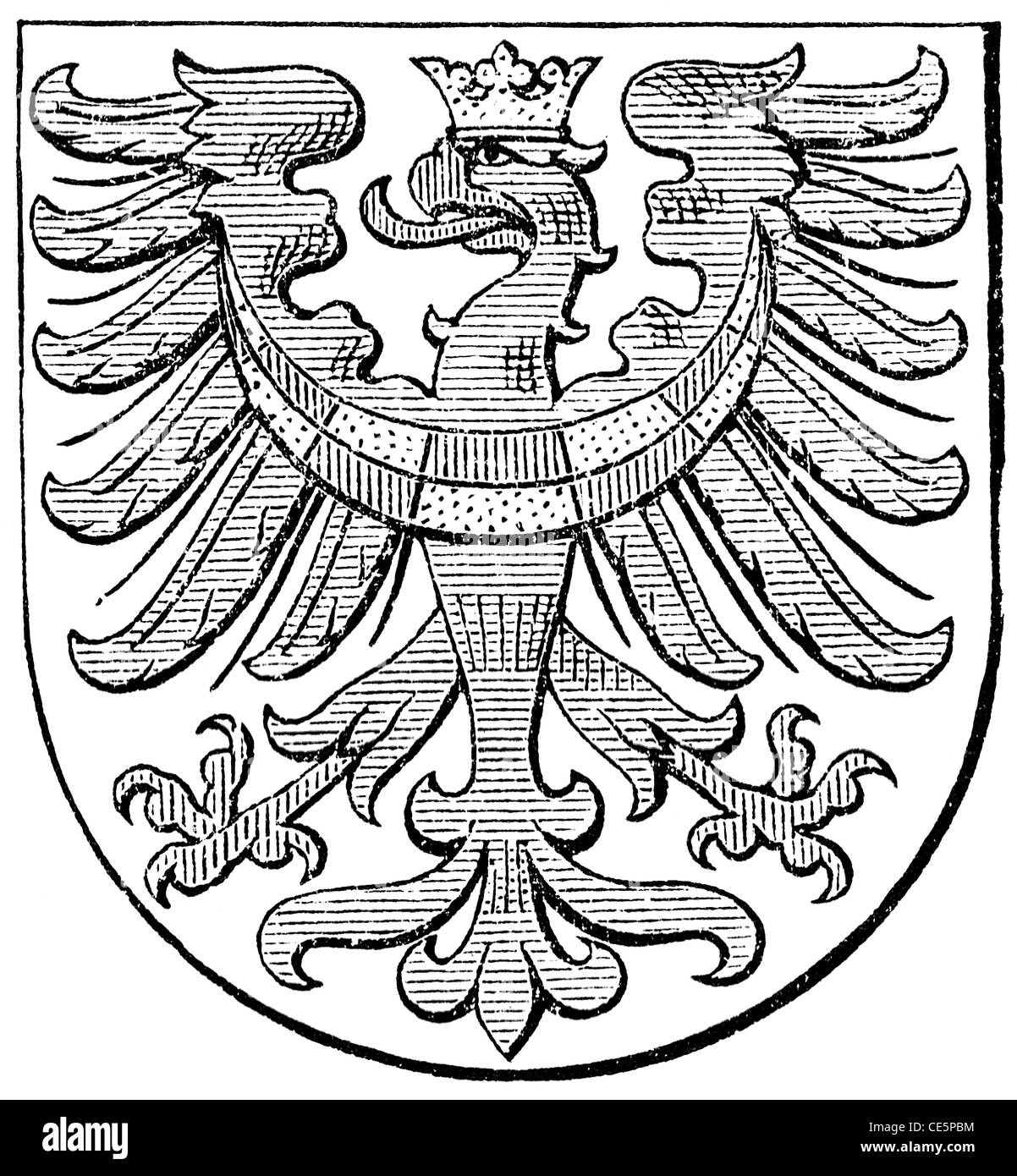 Coat of arms of Carniola, (Austro-Hungarian Monarchy) - Stock Image