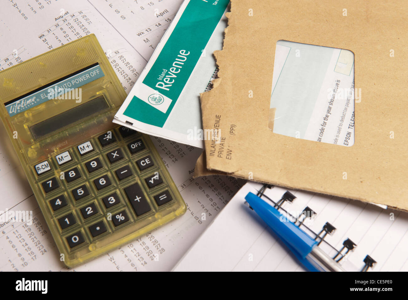 Income Tax Return Forms. Picture by Pete Gawlik. - Stock Image