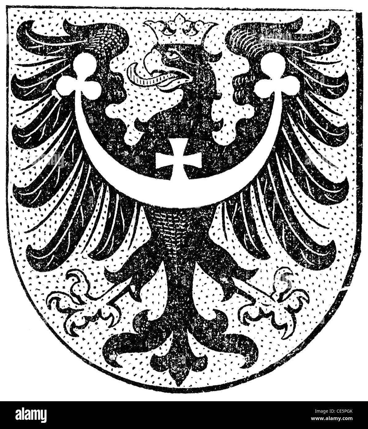 Coat of arms of Silesia, (Austro-Hungarian Monarchy) - Stock Image