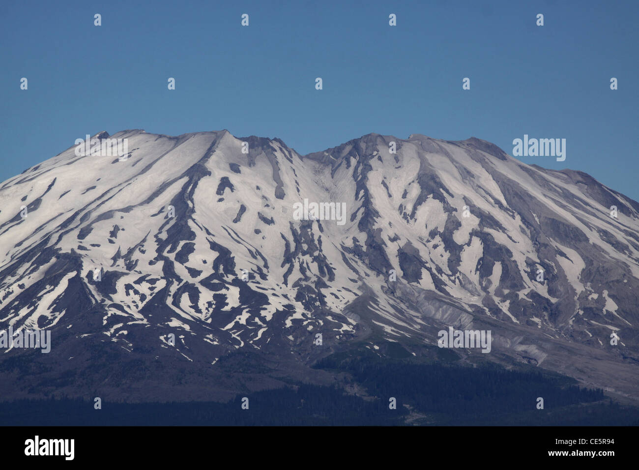 Mount St Helens Volcano National monument crater - Stock Image