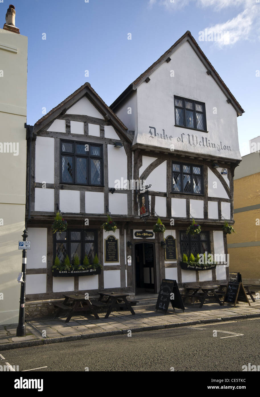 The Duke of Wellington Public House, Southampton, England, UK - Stock Image