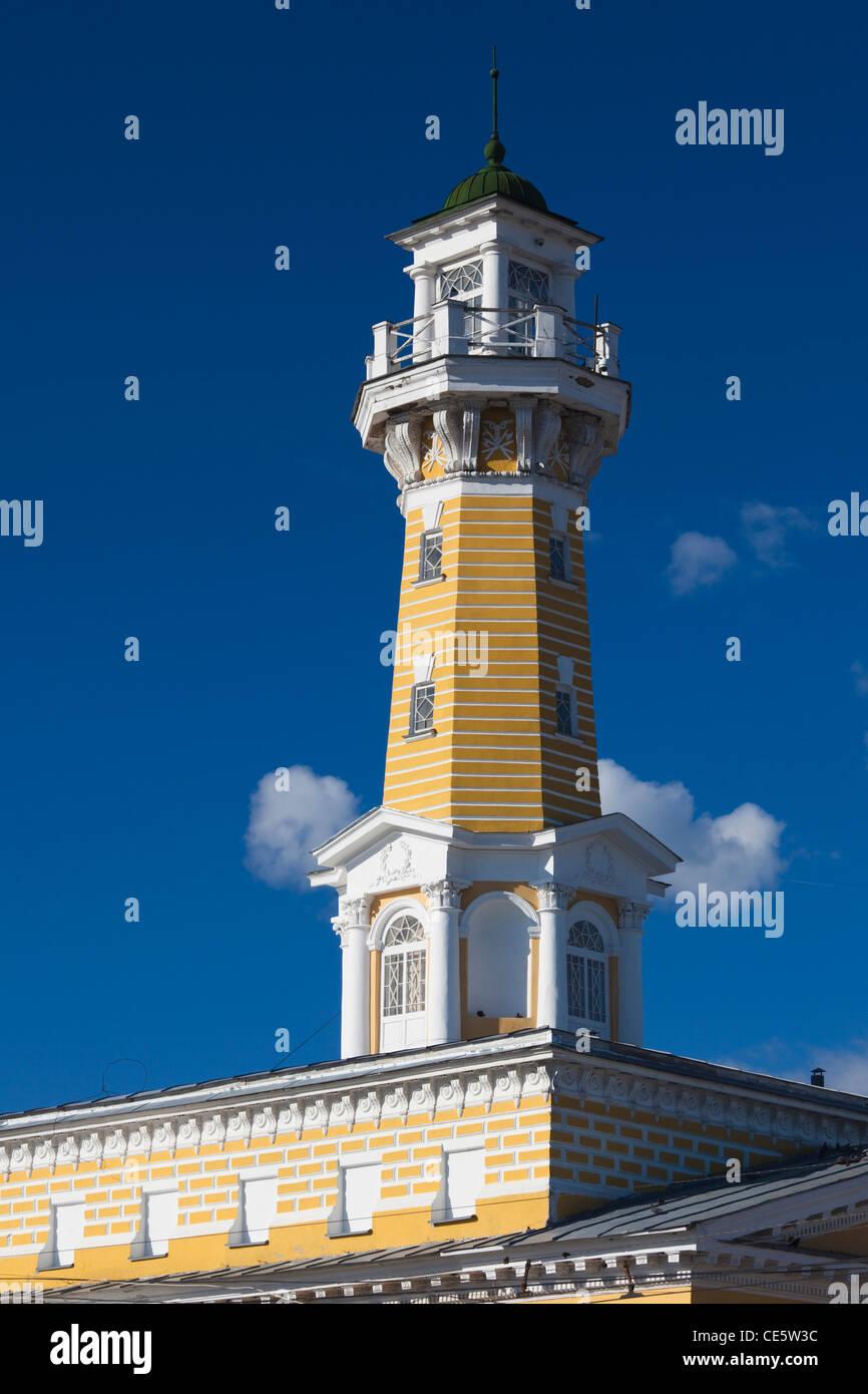 Russia, Kostroma Oblast, Golden Ring, Kostroma, Susaninskaya Square, historic fire tower - Stock Image