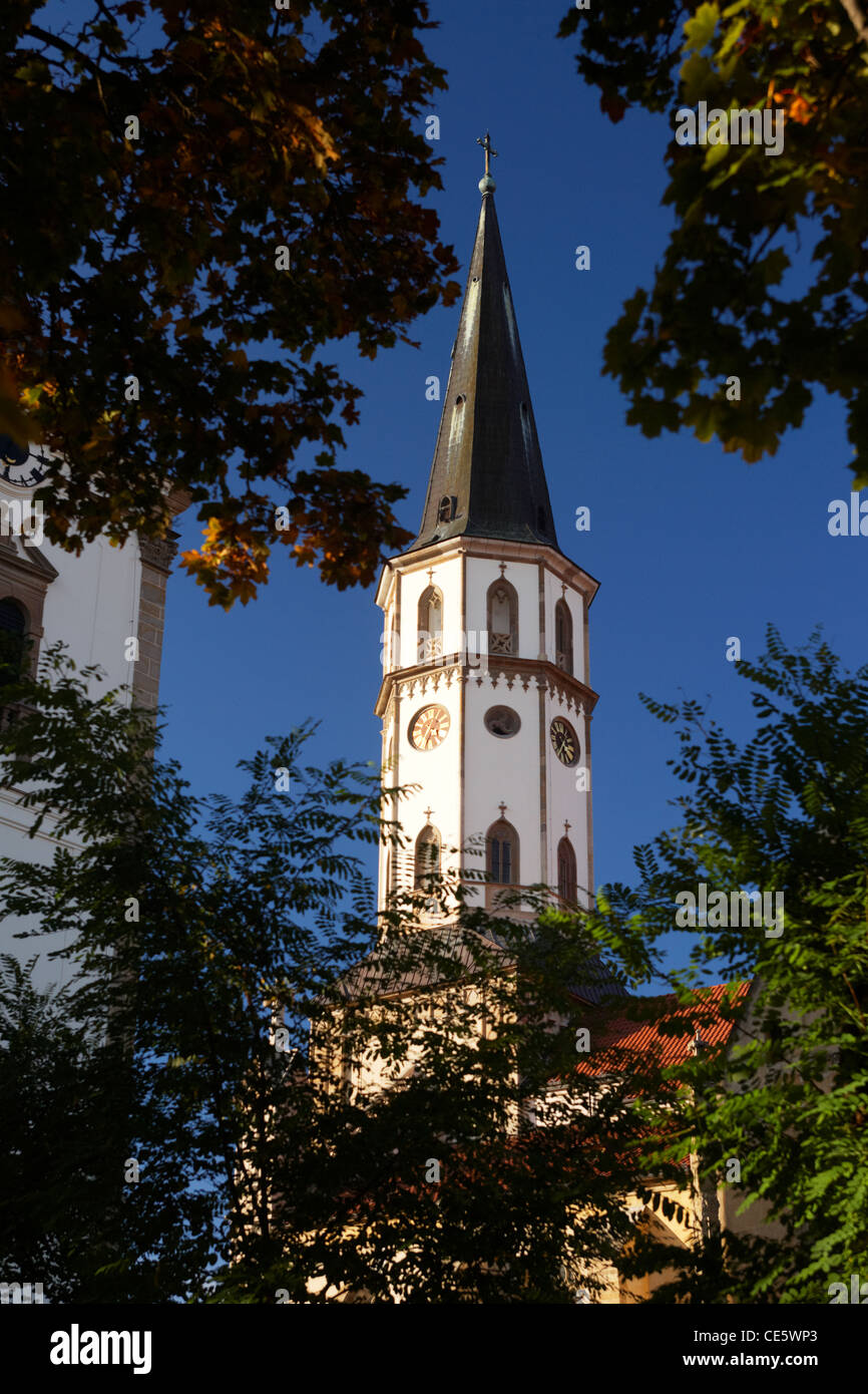 The old town church in Levoca in Slovakia - Stock Image