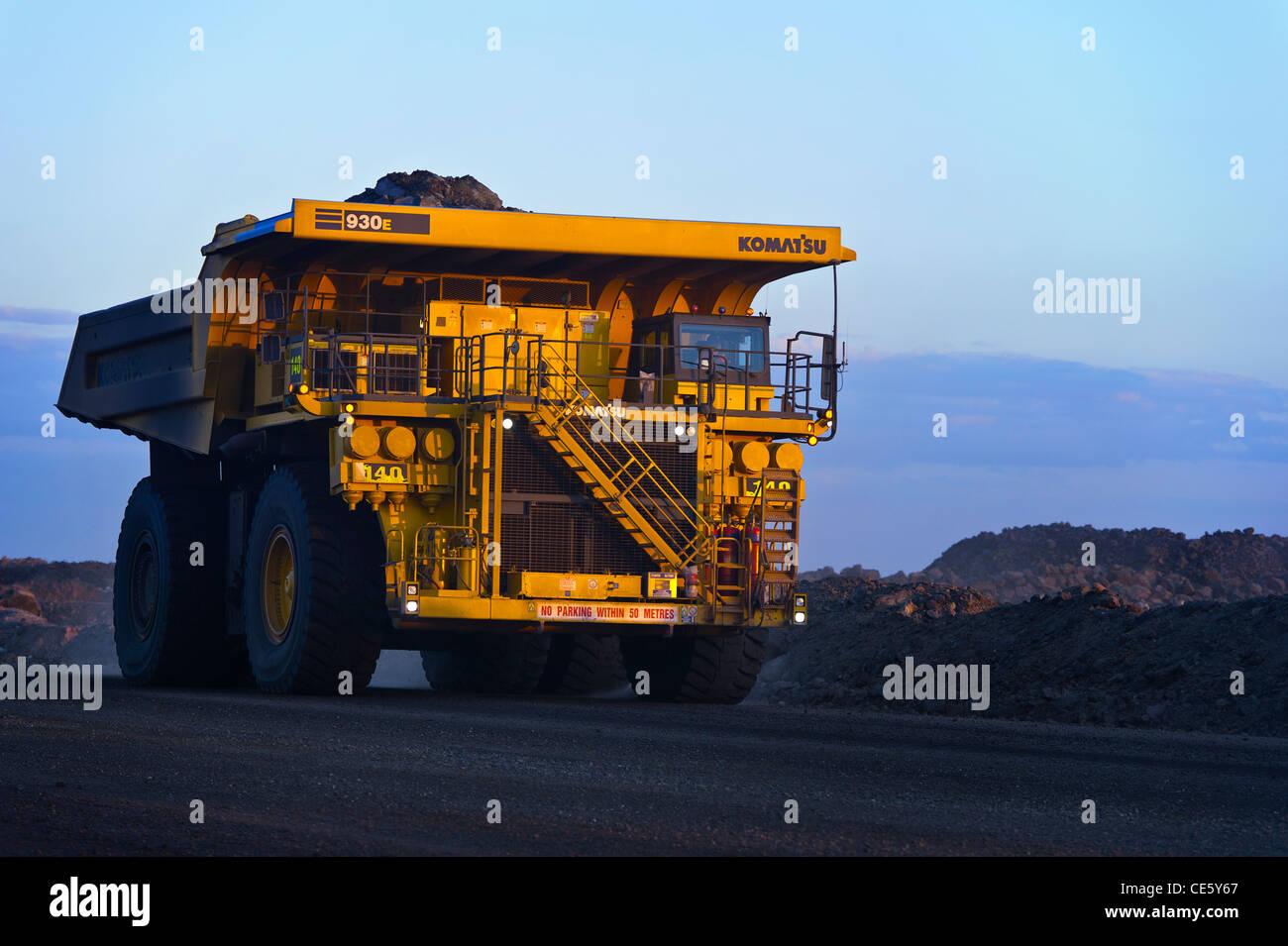 Coal mining dump truck, Clermont Mines QLD Australia Stock Photo: 43157023 - Alamy