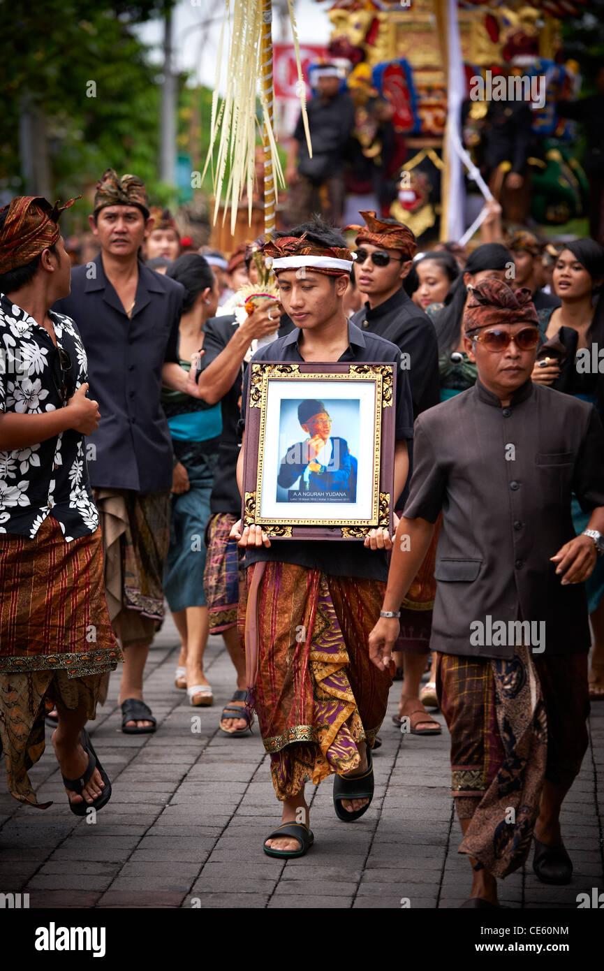 Bali Royal Cremation Ceremony, Ubud - Stock Image