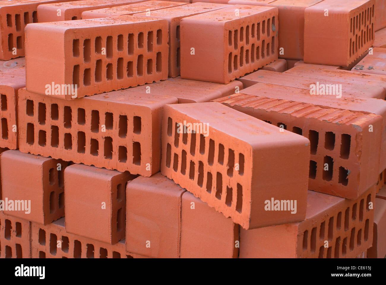 Red bricks. - Stock Image