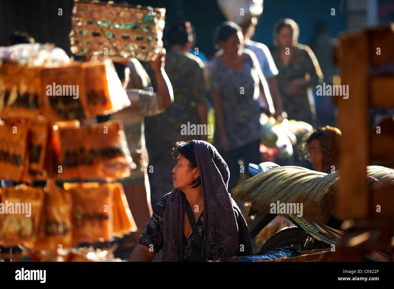 Ubud markets Bali Indonesia - Stock Image