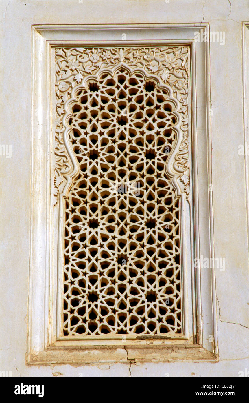 Decorative Marble Jali Window Of Bibi Ka Maqbara