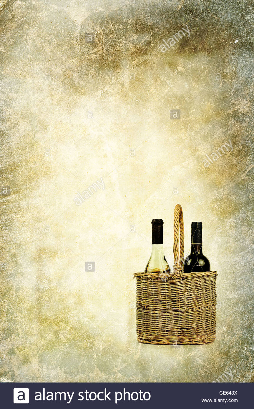 vintage wine - Stock Image