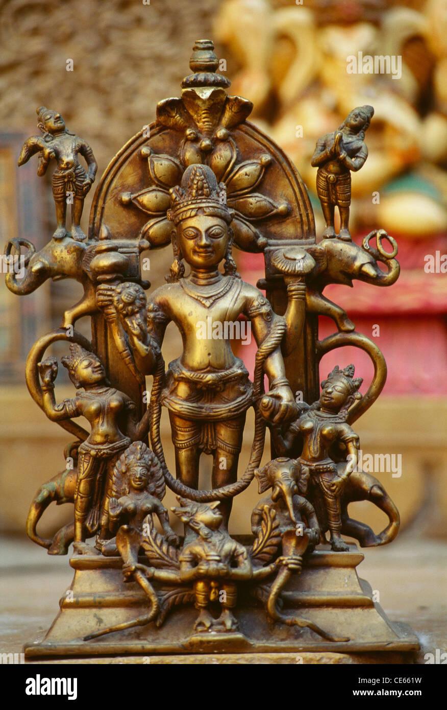 Statue of brass artefact ; Jaisalmer ; Rajasthan ; India - Stock Image