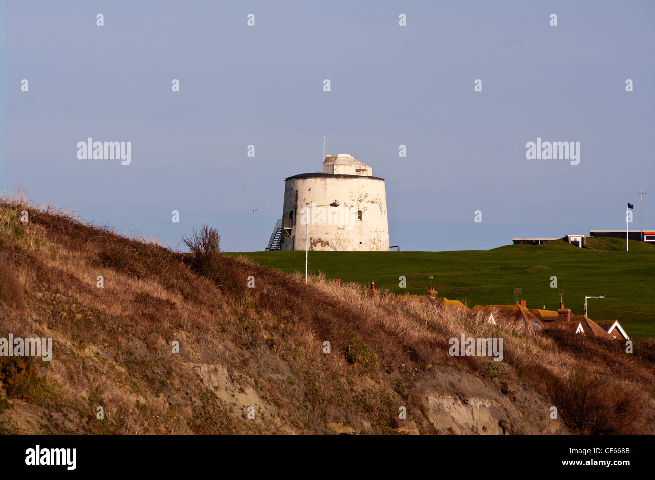 Martello Tower Number Three 3 Folkestone Kent UK Towns Towers - Stock Image