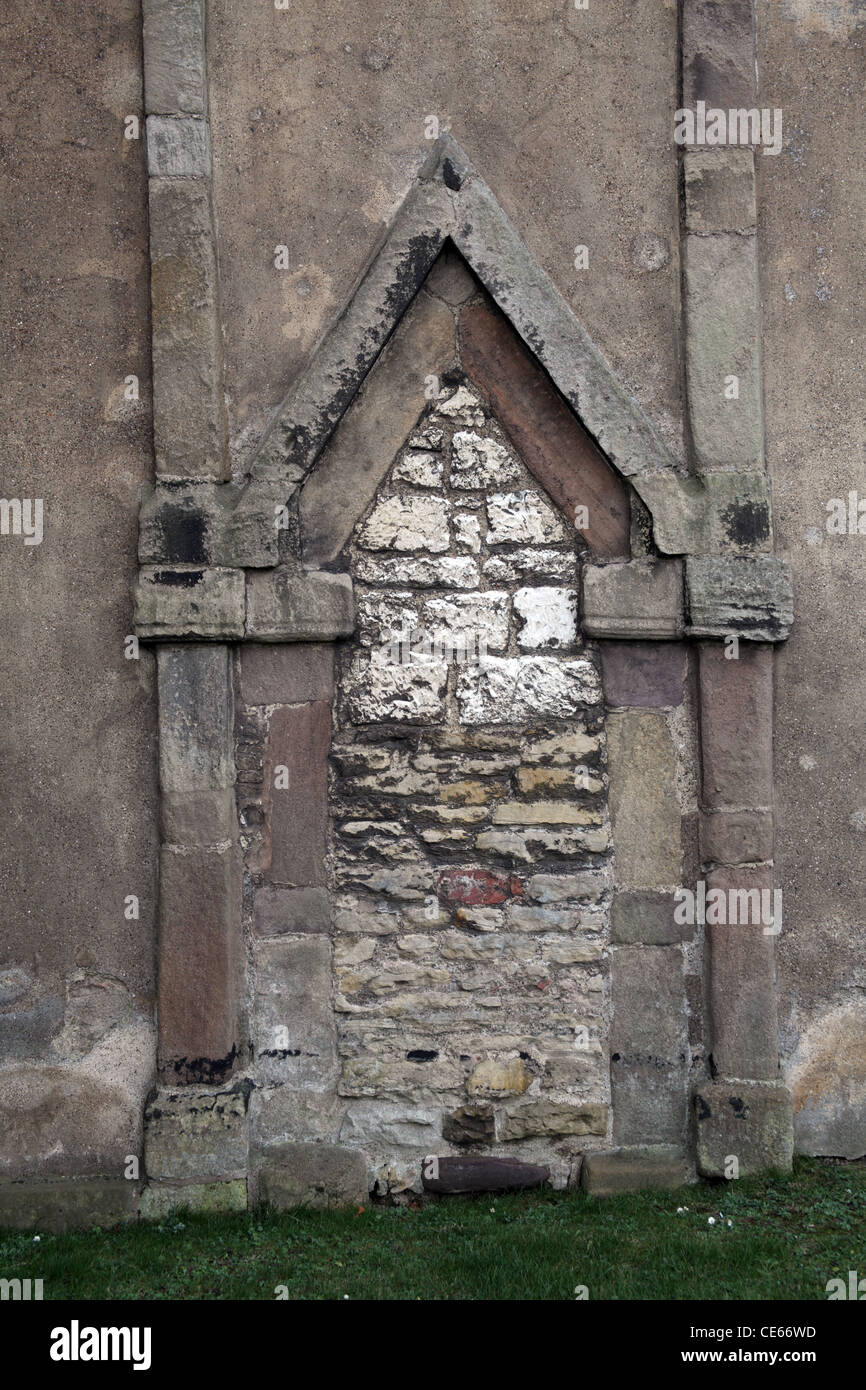 The 10th century Anglo-Saxon triangular headed doorway in the tower of St Peter's Church, Barton Upon Humber, - Stock Image
