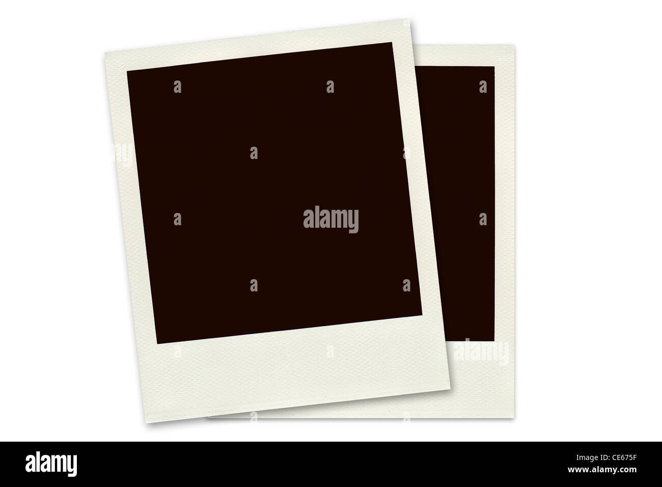 Two Polaroid frames isolated on a white background Stock Photo ...