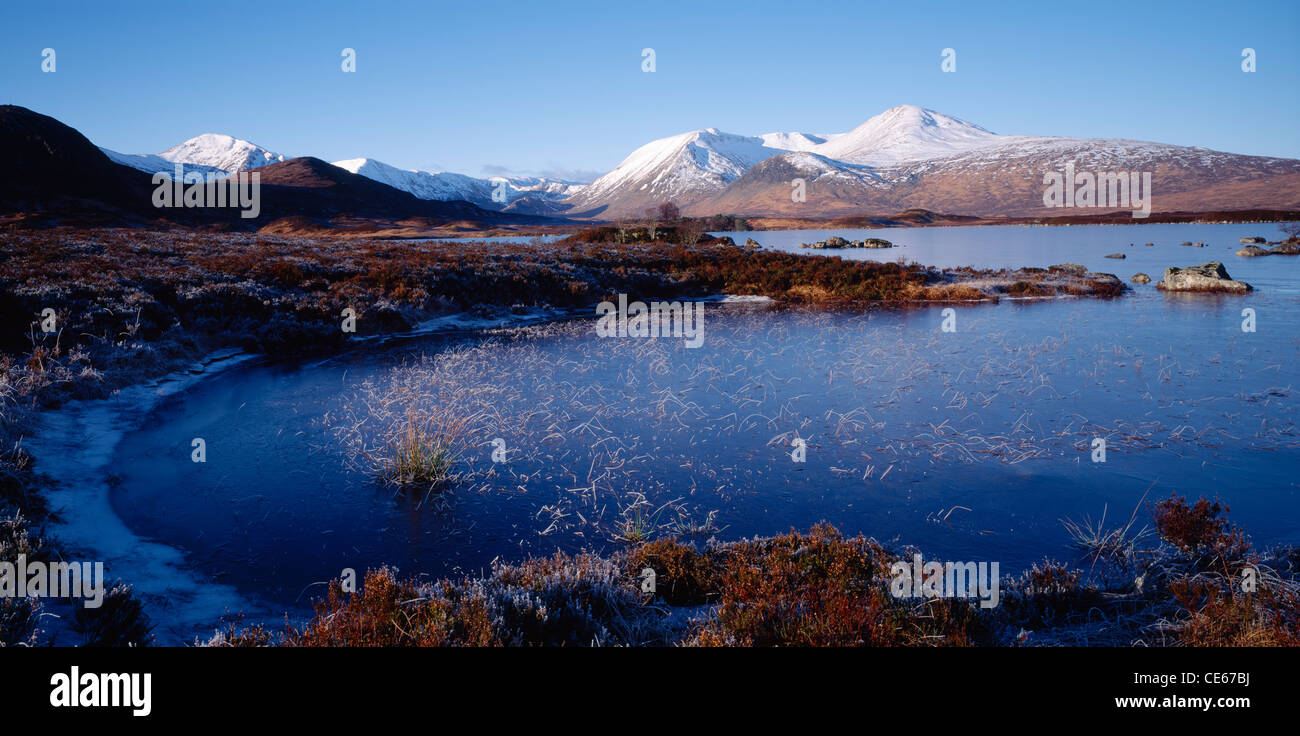 Lochan Na H Achlaise On Rannoch Moor And The Black Mount Lochaber Highland