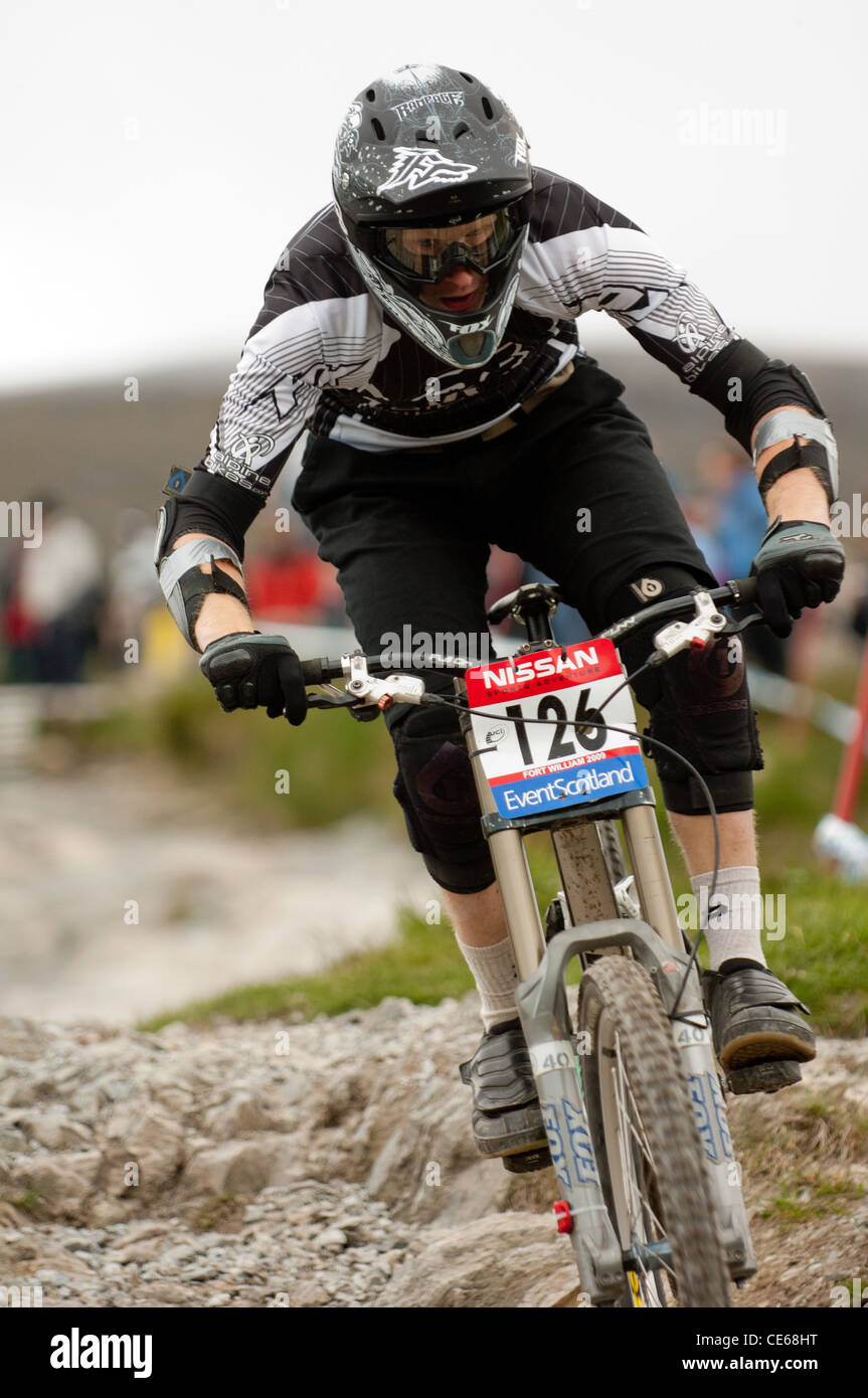 U C I Mountain bike world cup Nevis Range Fort William - Stock Image