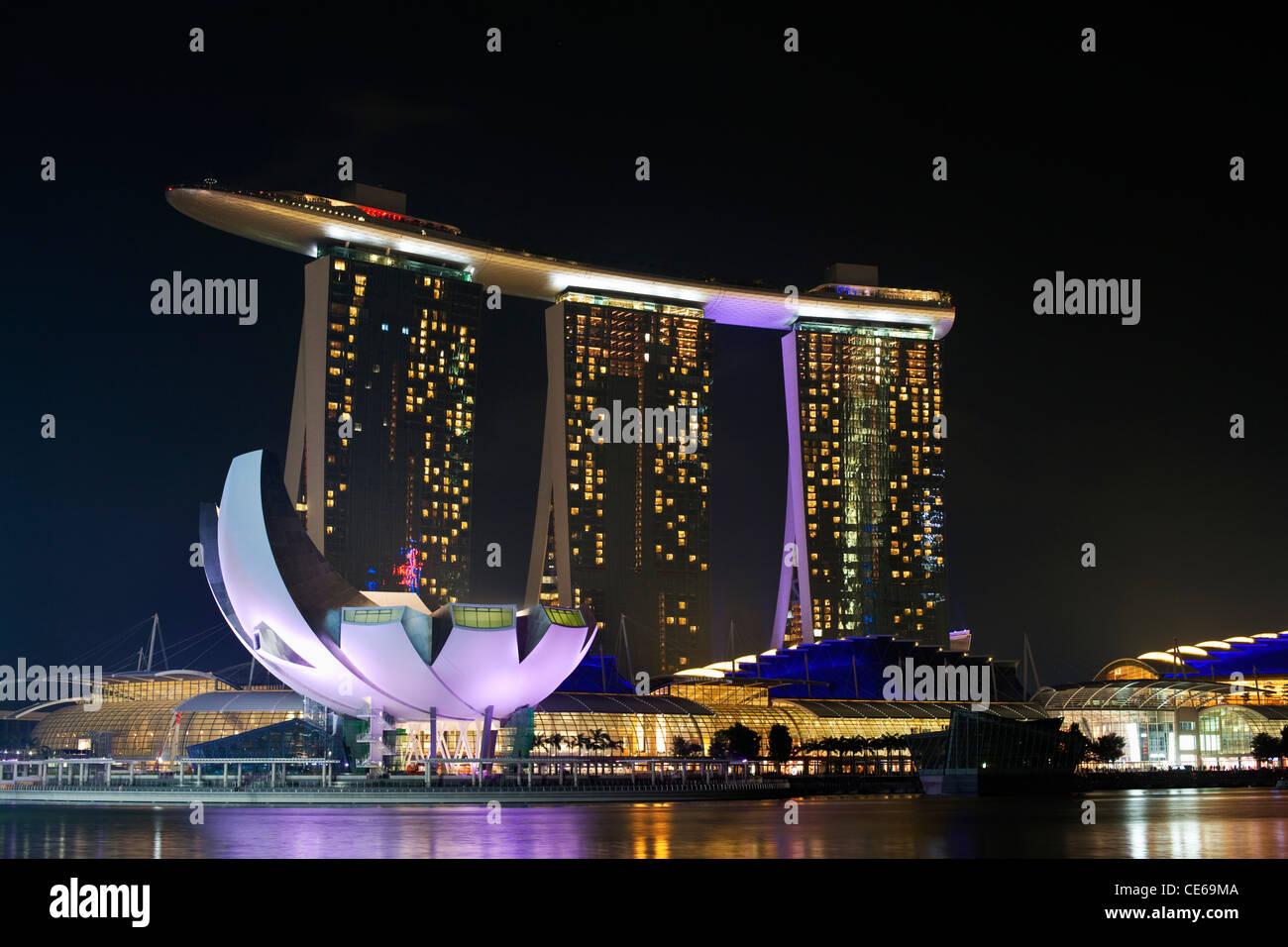 The Marina Bay Sands Singapore.  Marina Bay, Singapore - Stock Image