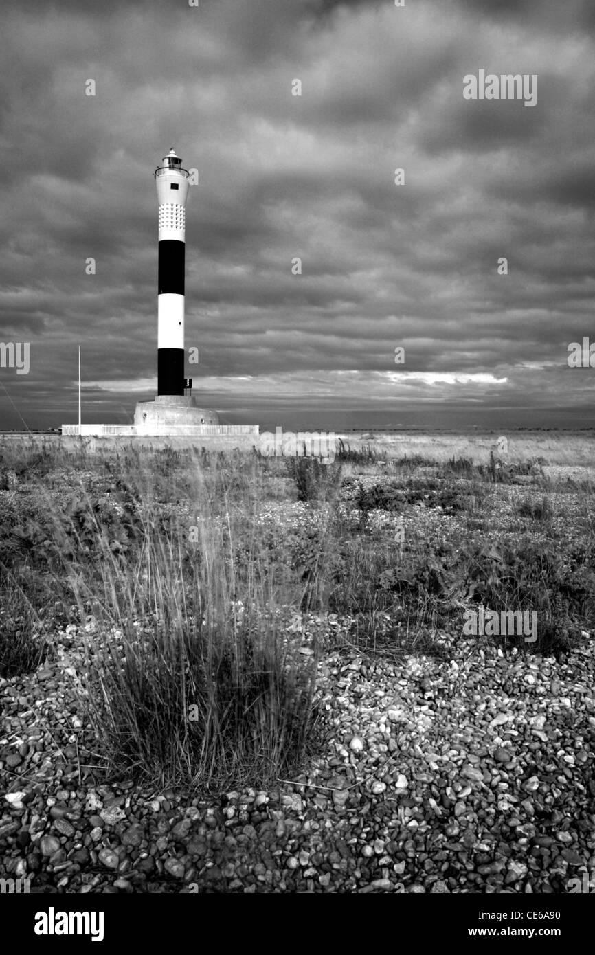 New lighthouse, Dungeness, Kent, England, UK - Stock Image