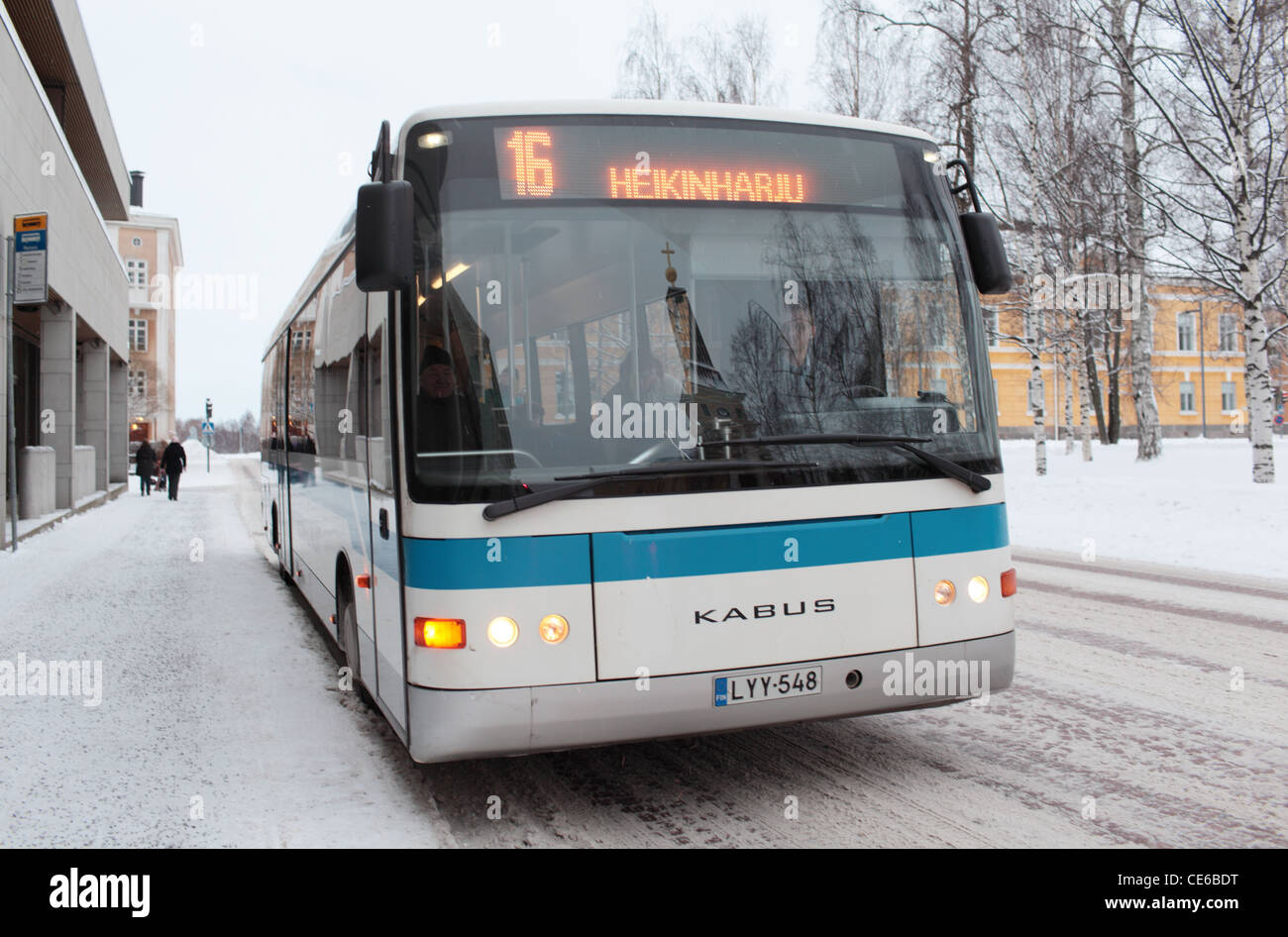Public bus in Oulu, Finland - Stock Image