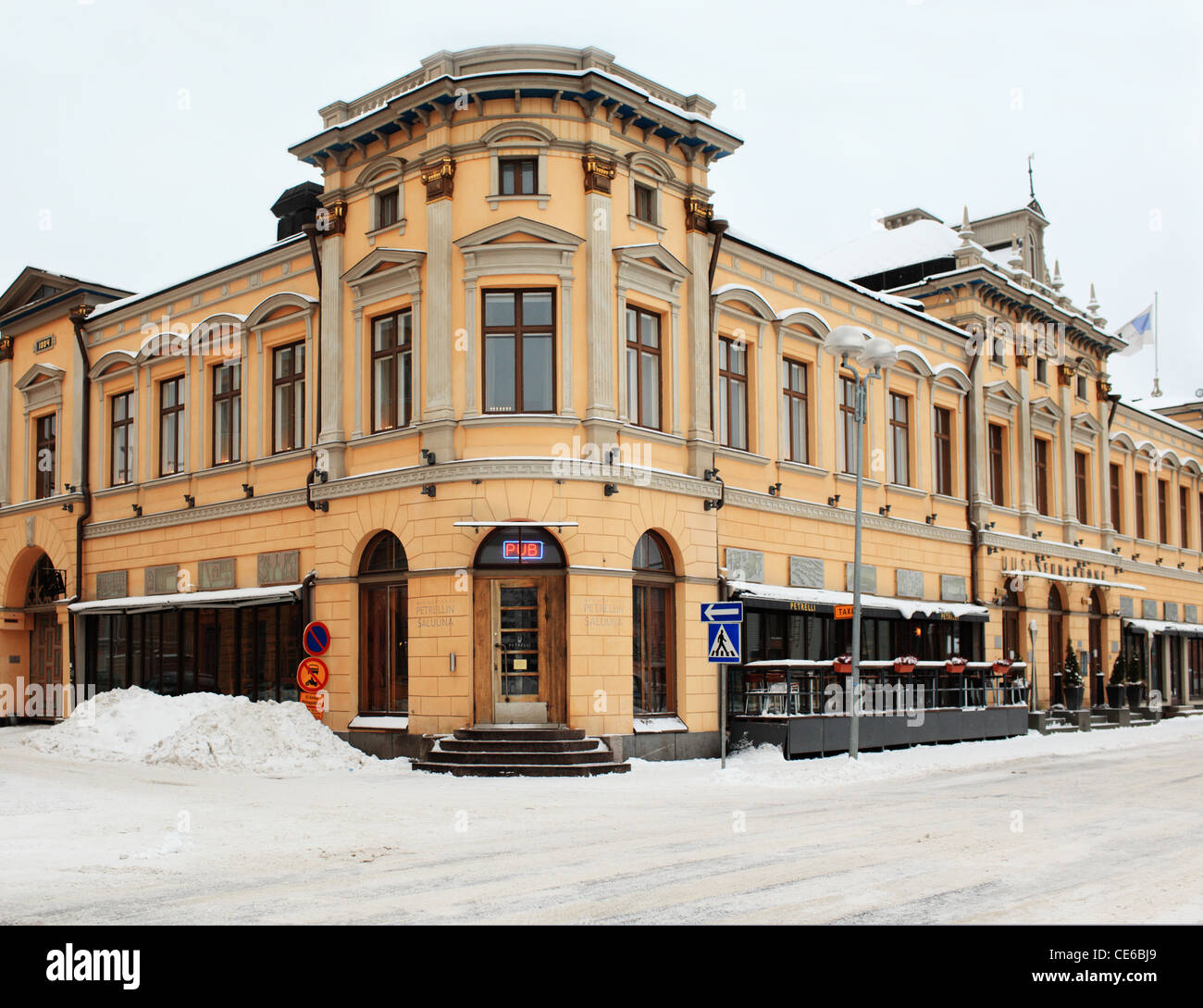 Old house in Oulu, Finland - Stock Image