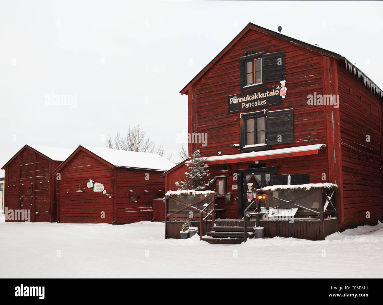 Old styled restaurant in Oulu, Finland - Stock Image