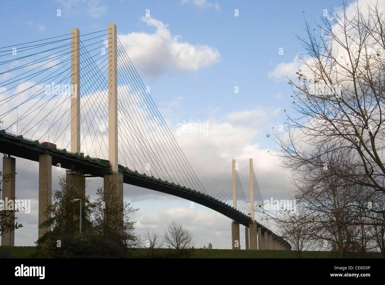 dartford river crossing the QE2 bridge - Stock Image