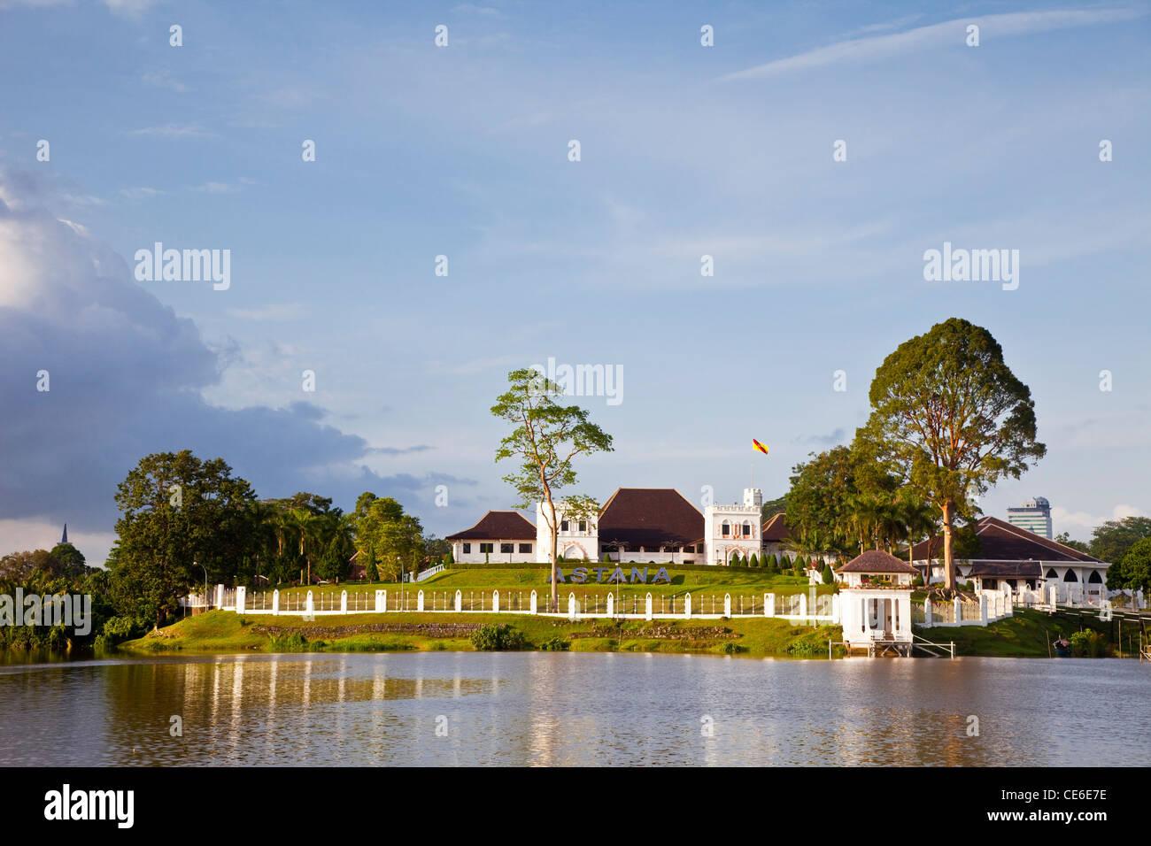 The Astana (Palace), built by Charles Brooke in 1870. Kuching, Sarawak, Borneo, Malaysia. - Stock Image