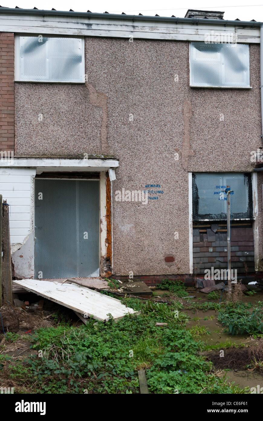 Demolition of a 1970's council estate in King's Norton, Birmingham Stock Photo