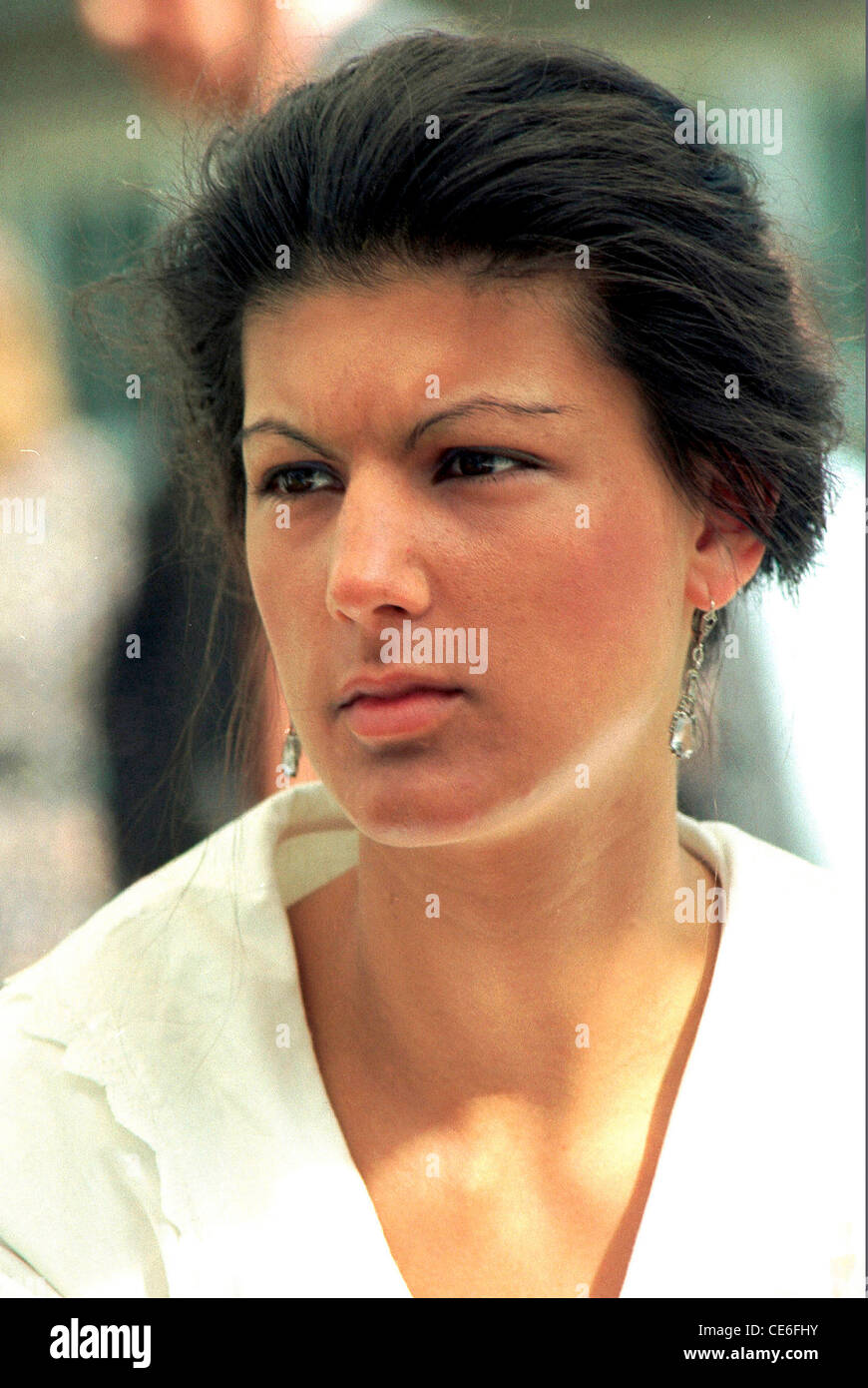 Sahra Wagenknecht  - * 16.07.1969: Representatives of the German Bundestag and acting Federal Chairmen of the Linkspartei. - Stock Image