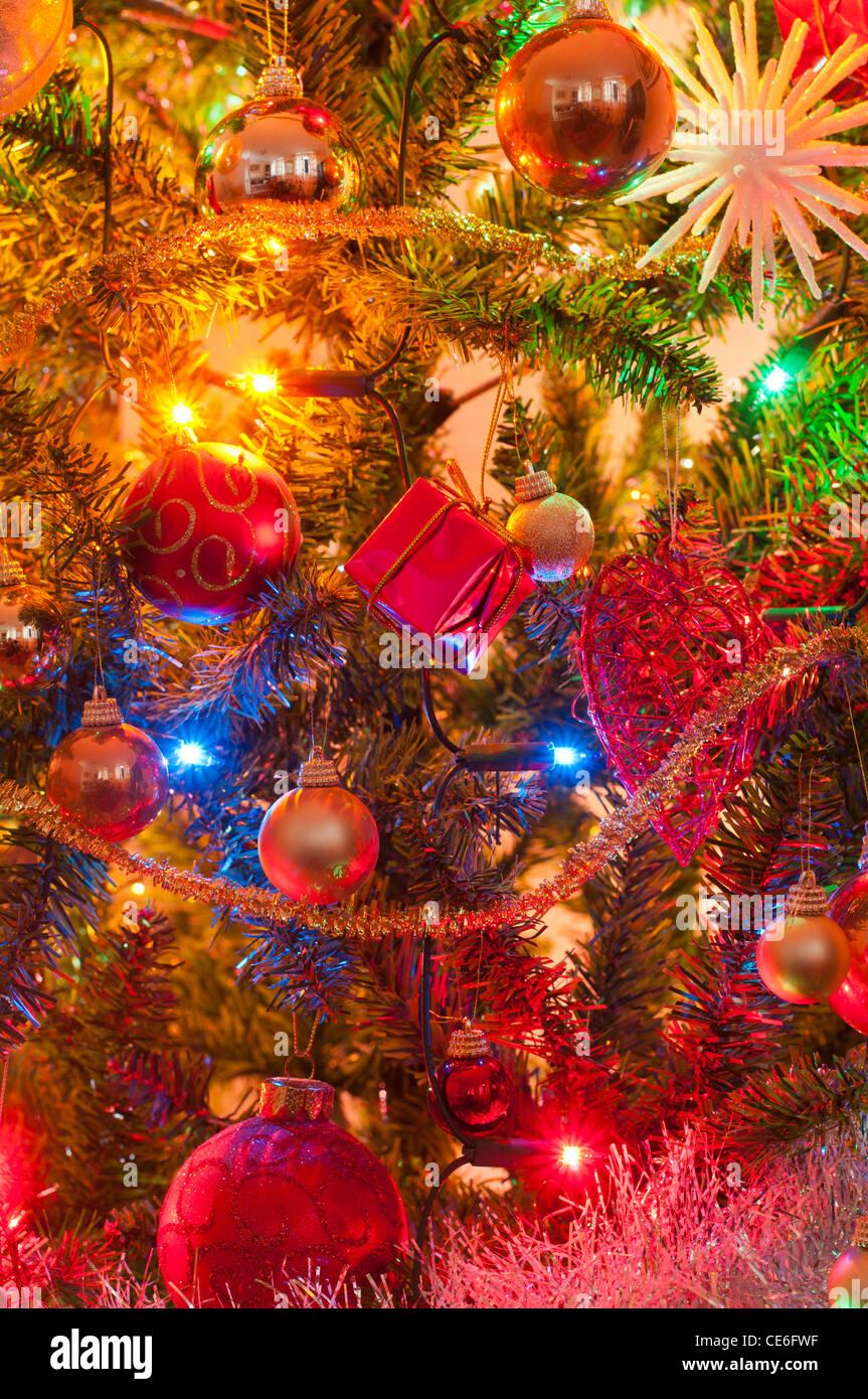 Christmas Background Portrait.Christmas Tree Decoration Decor Festive Baubels Tinsel