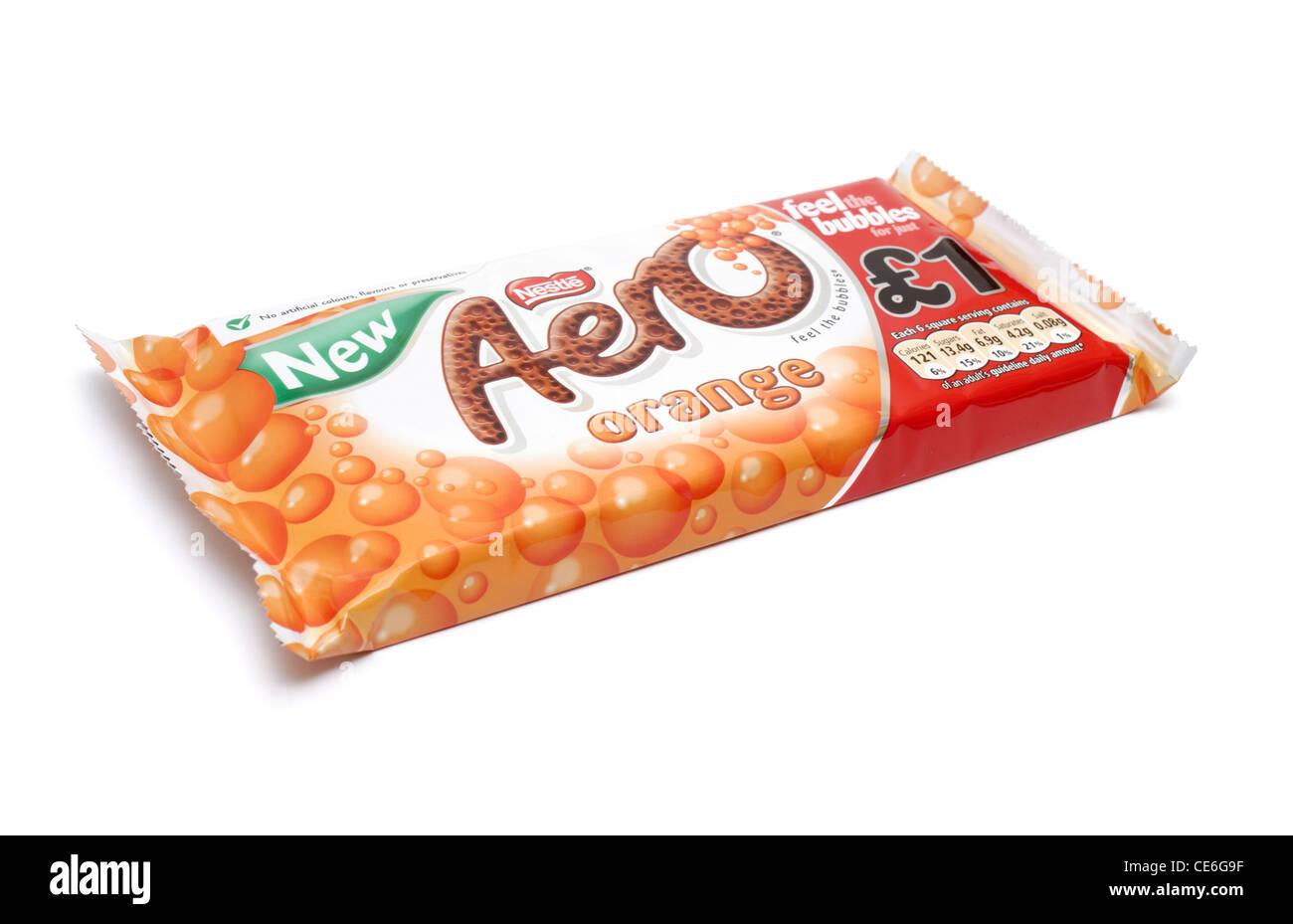 Orange Aero chocolate bar - Stock Image