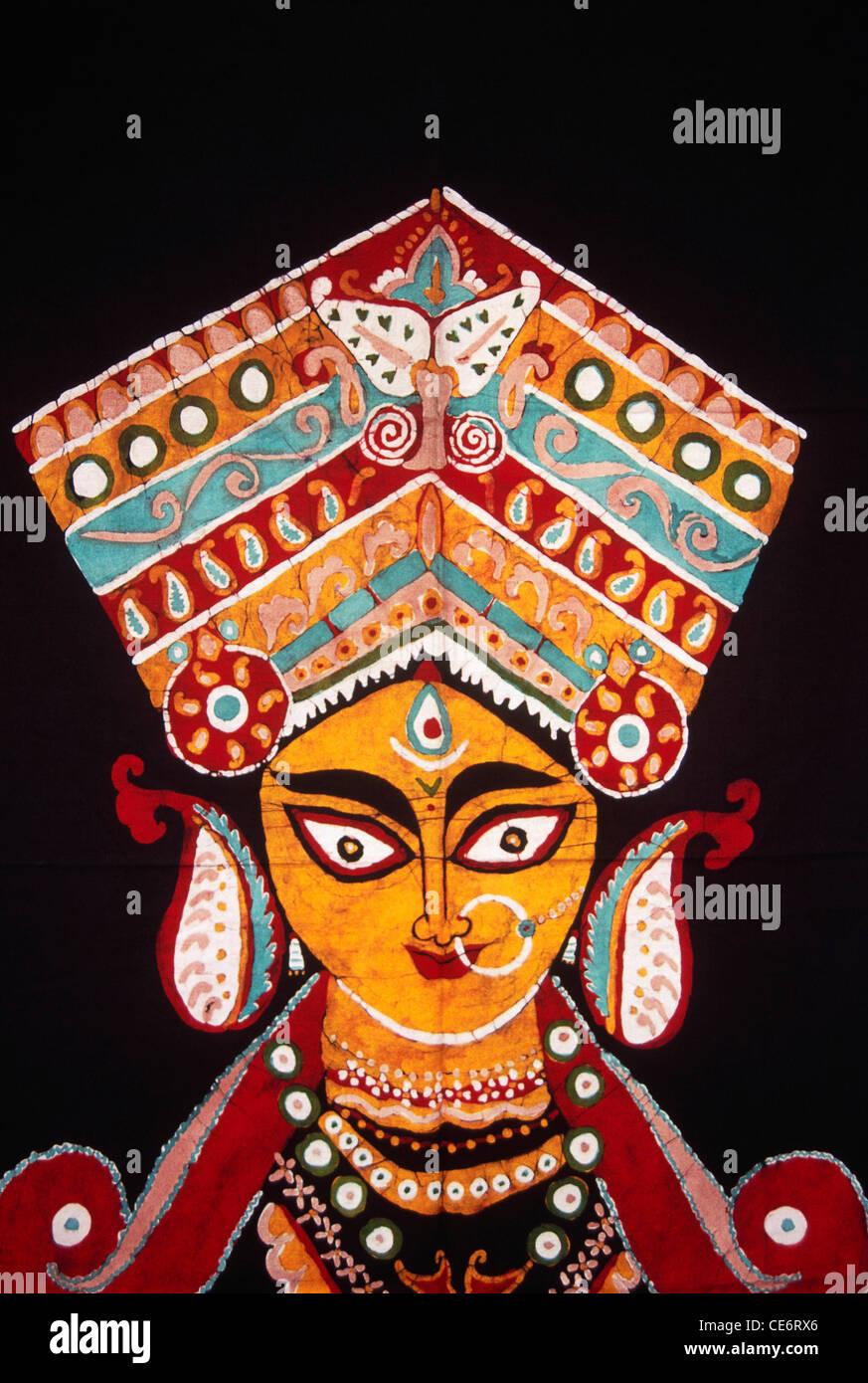 Durga stock photos durga stock images alamy for Folk art craft paint