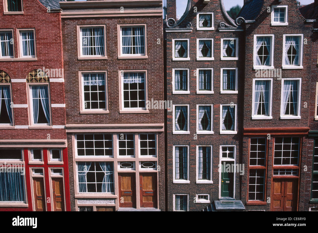 JAA 87837  doors and windows to scale of houses homes miniature city madurodam the hague dan haag Holland netherlands europe & JAA 87837 : doors and windows to scale of houses homes miniature ...