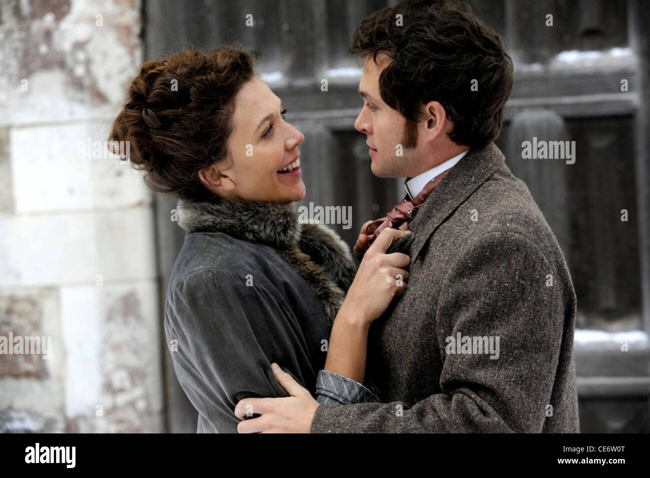 HYSTERIA  - 2011 Sony Pictures Classics film with Maggie Gyllenhaal as Charlotte Dalrymple and Hugh Dancy as Mortimer - Stock Image