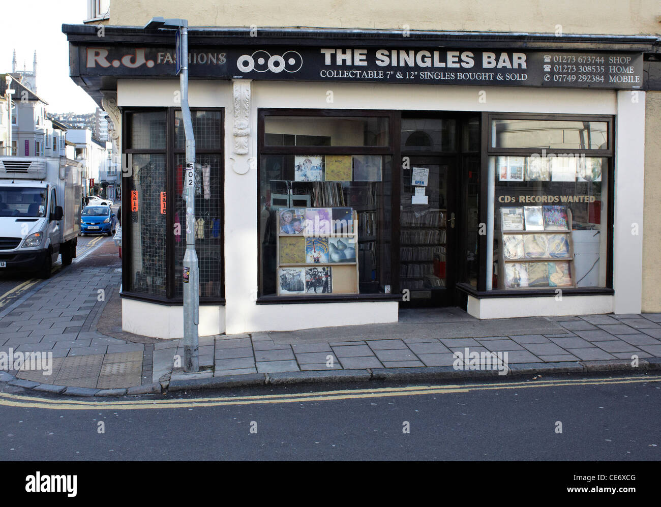The Singles Bar Tidy Street Brighton - Stock Image