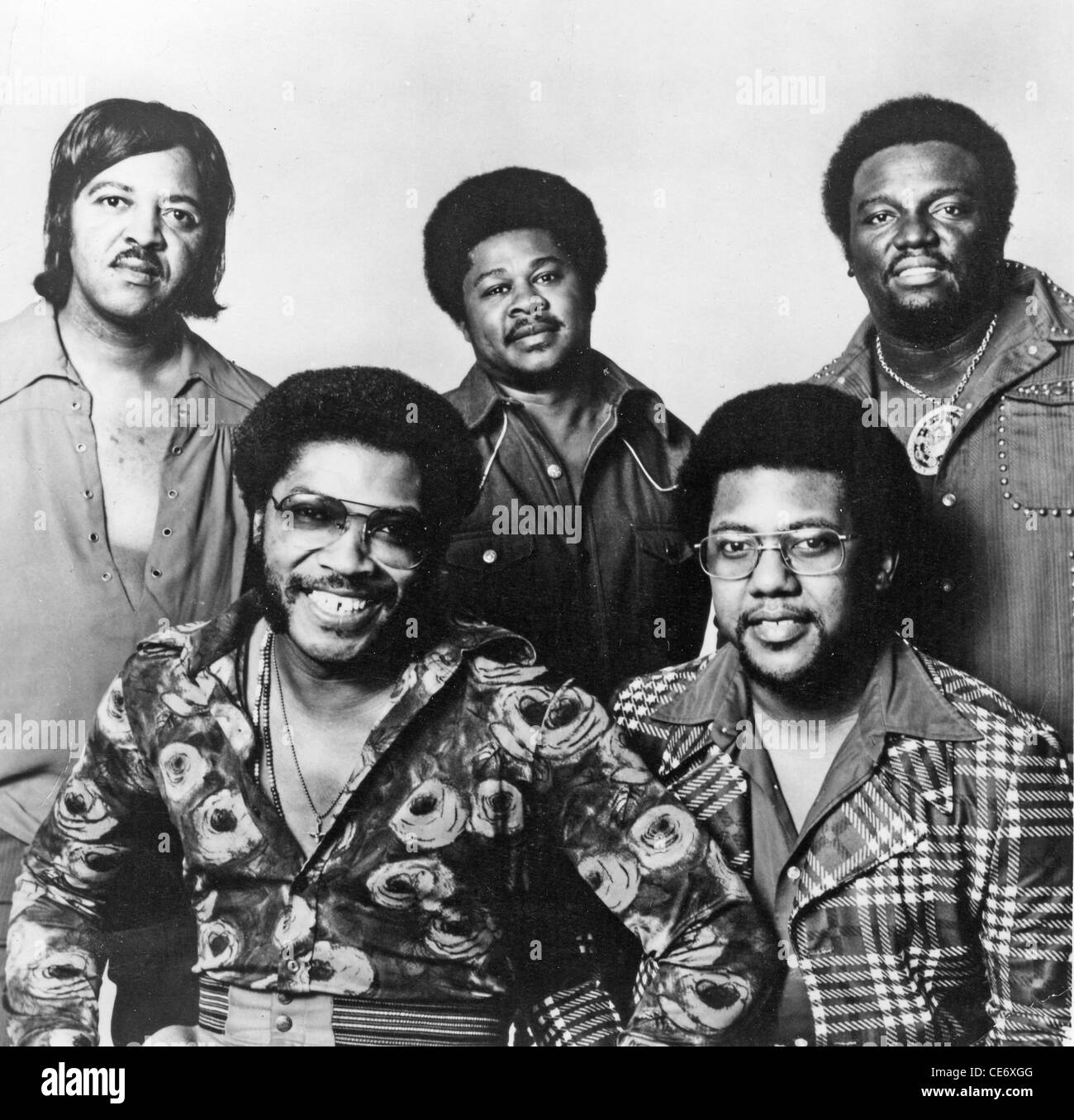 MIGHTY CLOUDS OF JOY Promotional photo of US Gospel group about 1975 - Stock Image
