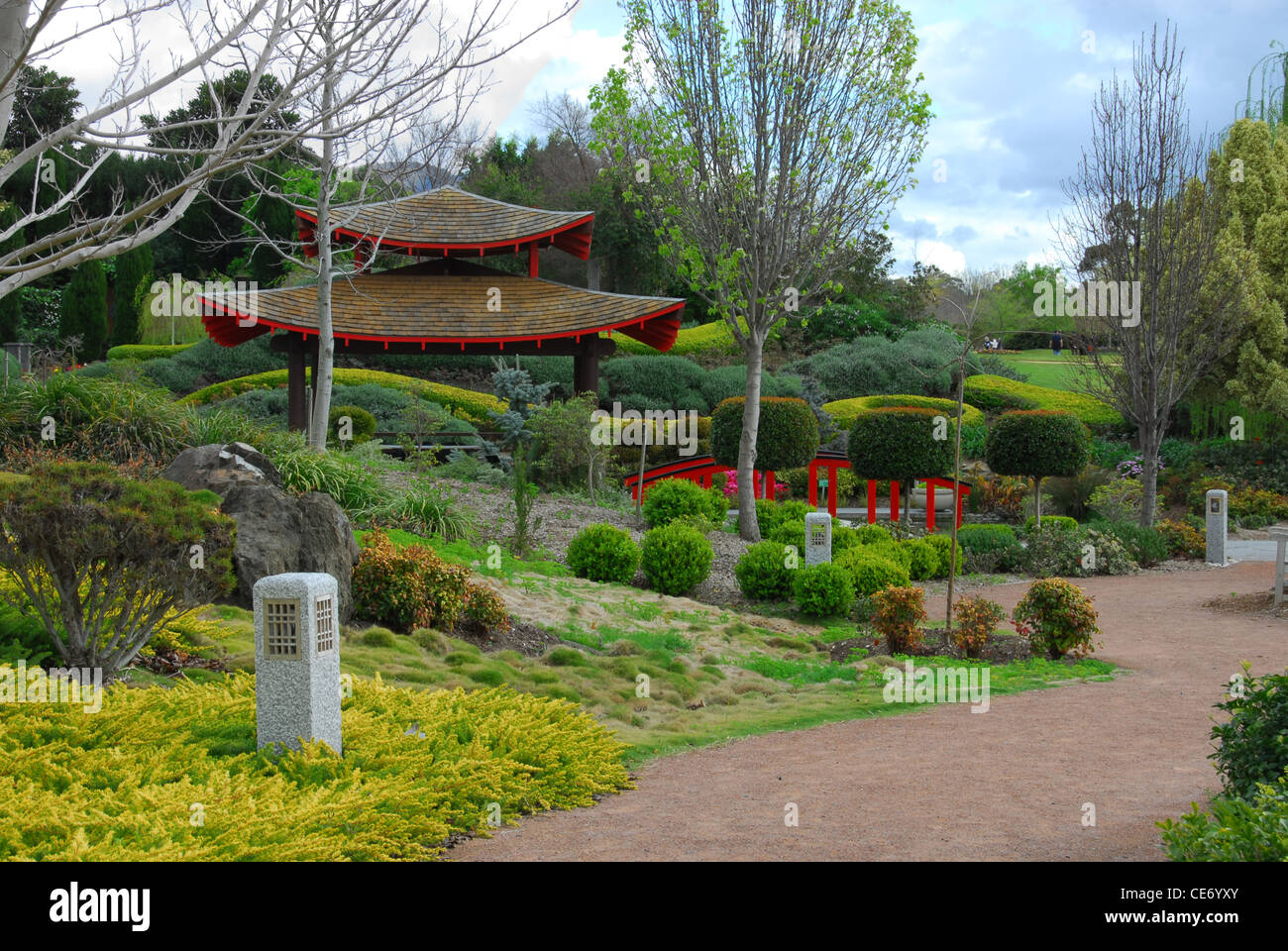 A Scene From A Japanese Garden New South Wales Australia Stock Photo Alamy