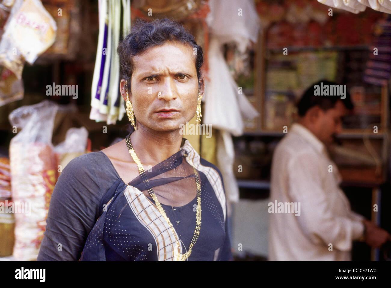 HMA 81719 : Eunuch Hijrah man or women ; Bombay Mumbai ; Maharashtra ; india Stock Photo