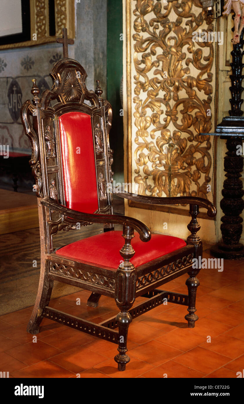 Hma 82515 Old Ornate Chair Behind Altar In Reis Magoo