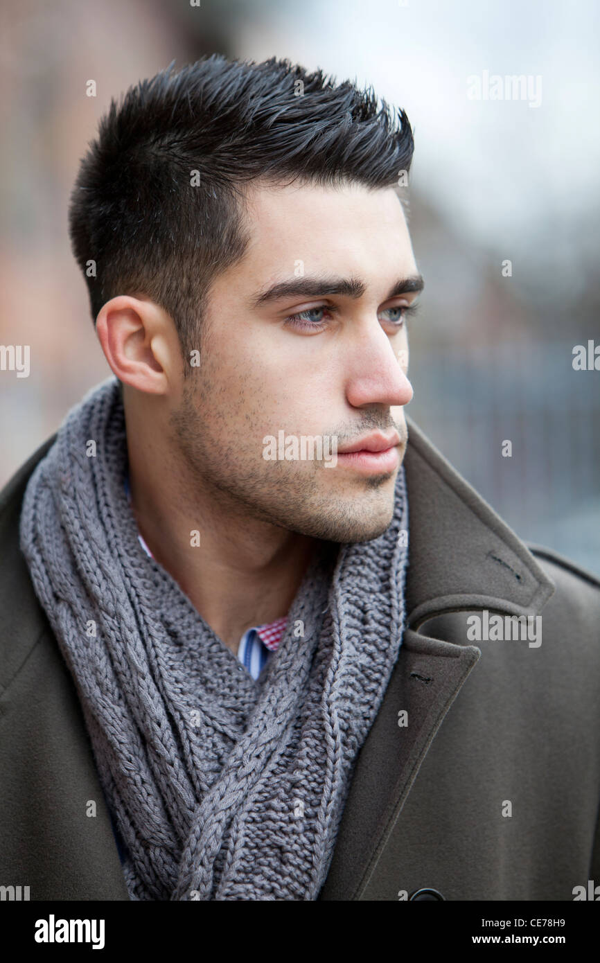 Tall Dark Handsome Male Model Stock Photos & Tall Dark