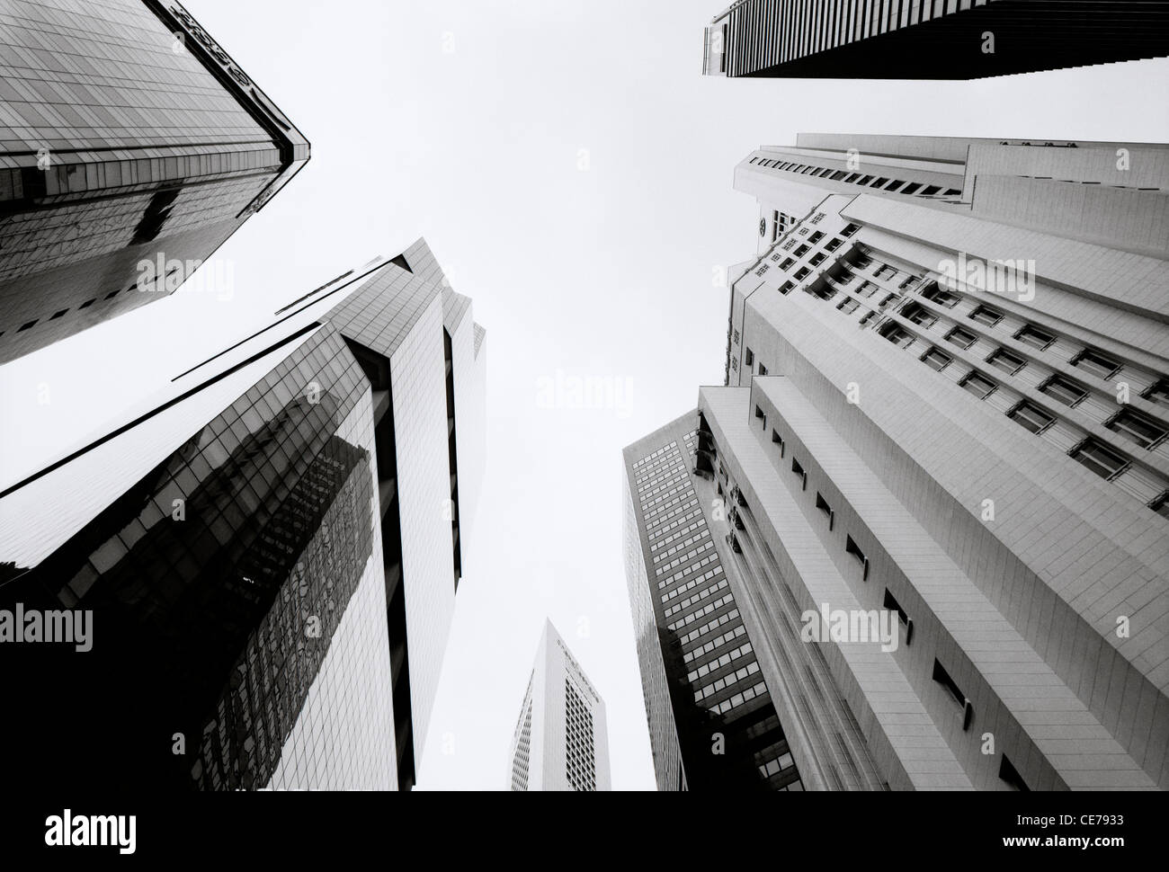 Central Business District CBD in the Marina Bay area of the city of Singapore in Far East Southeast Asia. Finance - Stock Image
