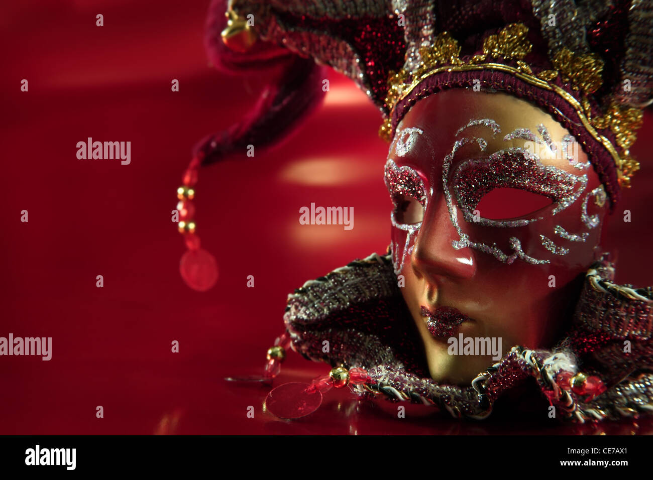 Ornate carnival mask. - Stock Image