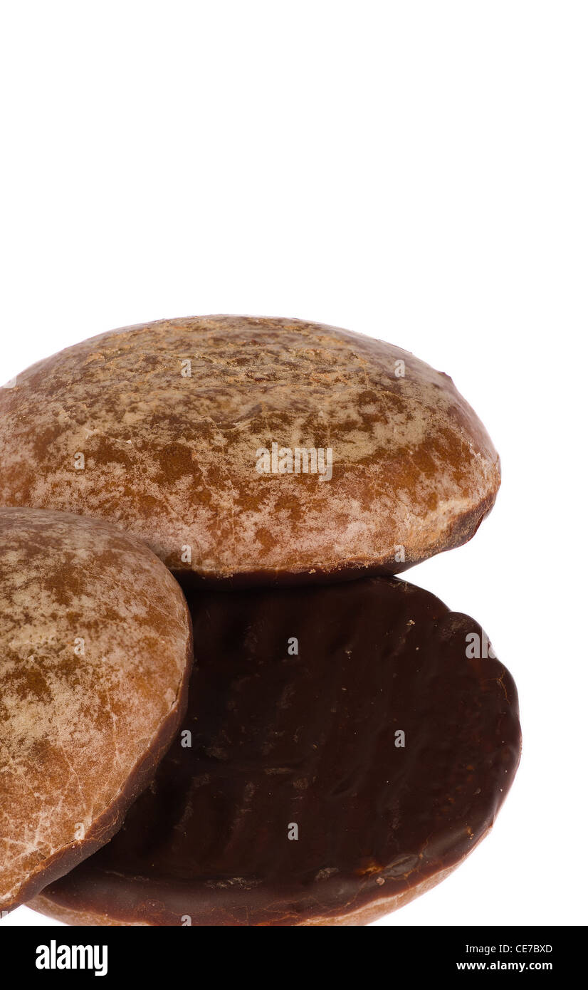 Traditional German Lebkuchen Biscuits Coated In Chocolate On The