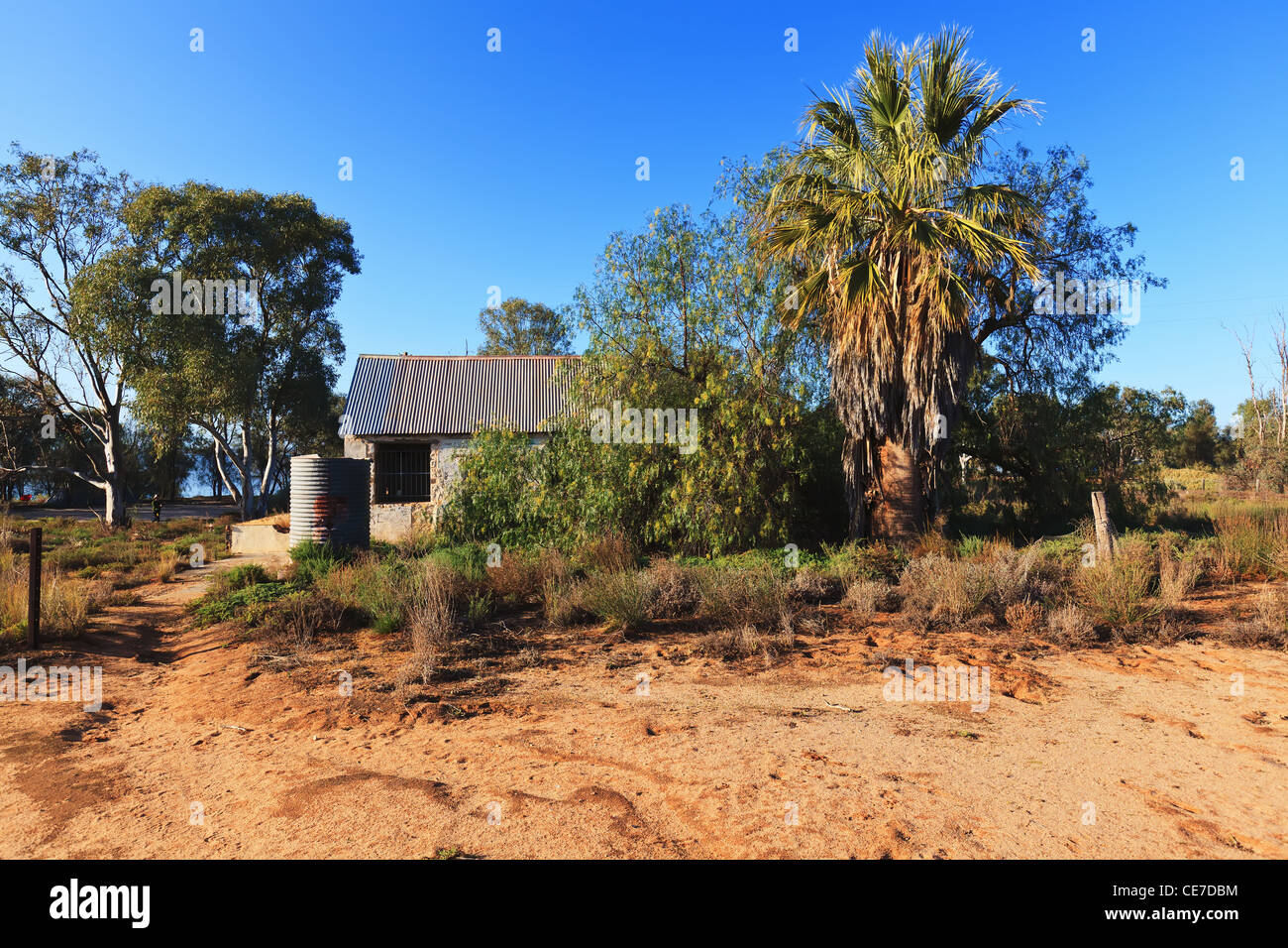 William Nappers Old Outback Hotel Ruins - Stock Image