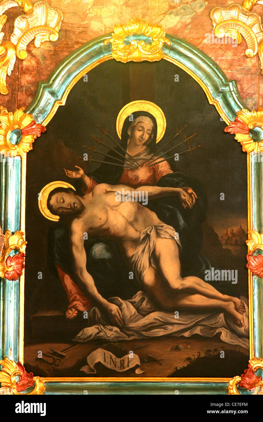Seven Sorrows of the Blessed Virgin Mary Stock Photo