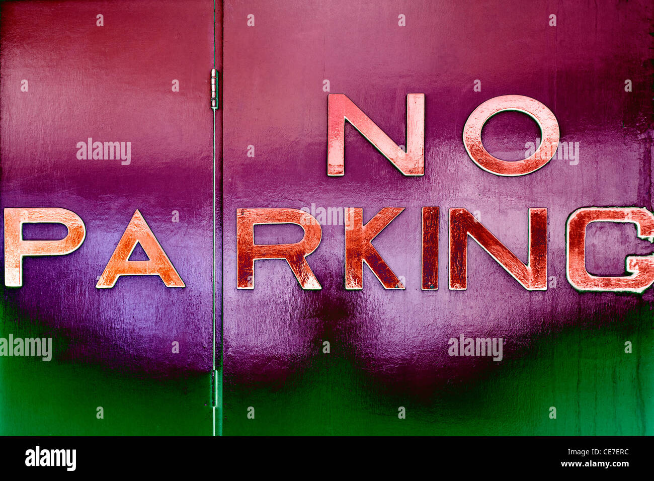 No parking sign, Dublin, Ireland - Stock Image