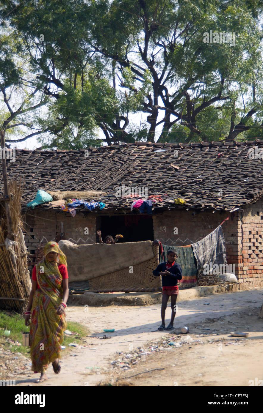 Indian Village Woman Stock Photos & Indian Village Woman