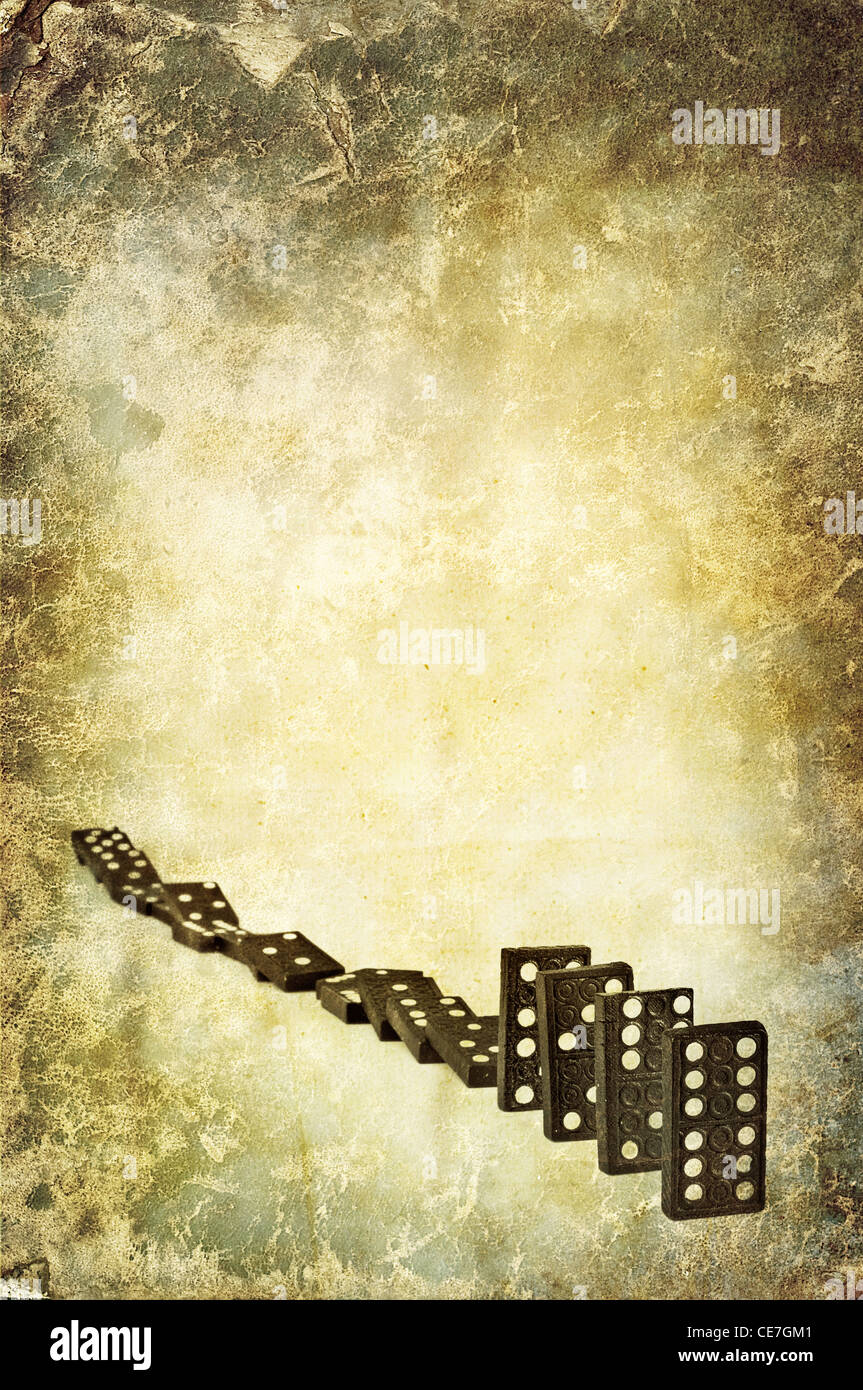 domino line - Stock Image