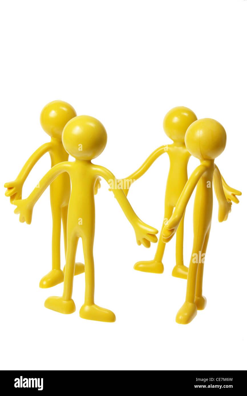 Miniature Rubber Figures - Stock Image