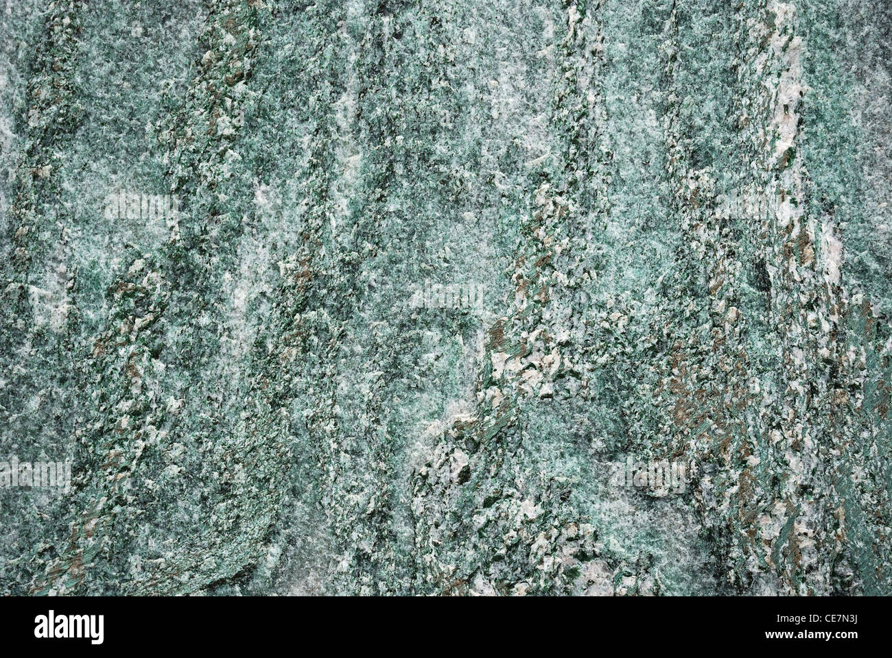 Surface of greenish marble. - Stock Image