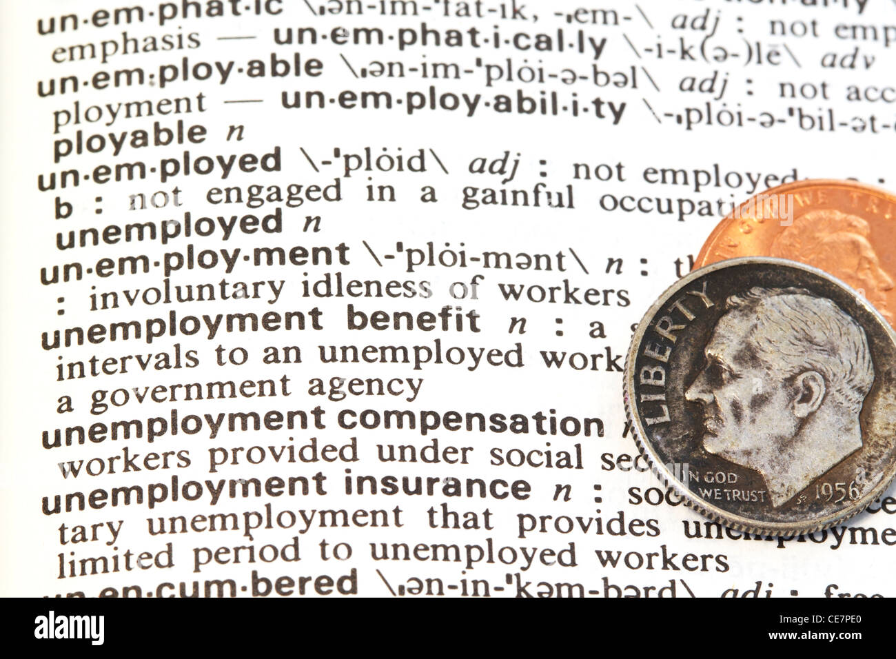 Unemployment benefits. - Stock Image
